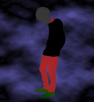 赤タンク黒セーター羽根.jpg